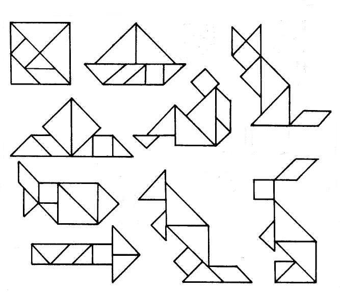 Картинки фигуры танграм